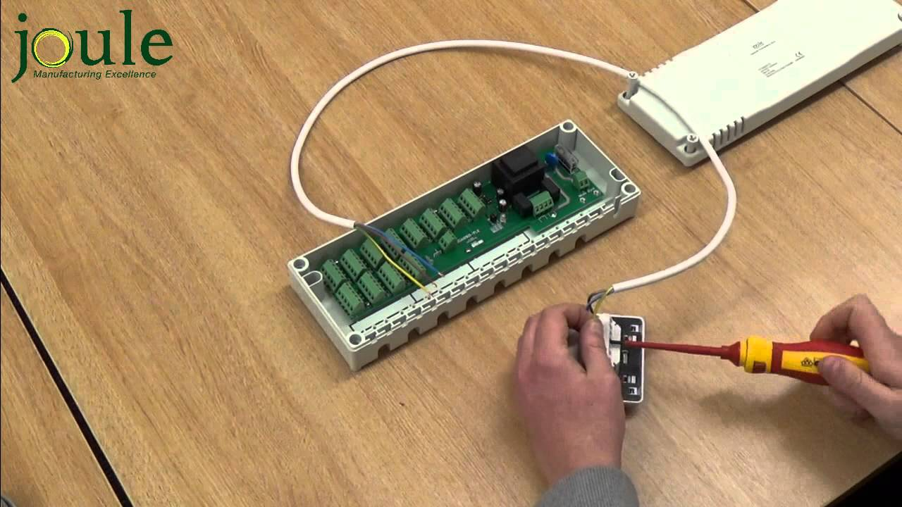 How to Wire a Joule Underfloor Wiring Center to The Thermostat - YouTube | Wunda Underfloor Heating Wiring Diagram |  | YouTube