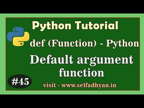 Python - Default argument in Function - Function in Python | Python tutorial in Hindi for class 11 thumbnail