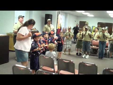 Tiger Cub song at Pack Meeting