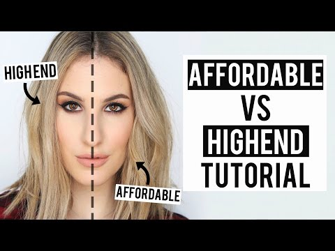 Drugstore/Affordable VS High End Makeup Tutorial | $280 Cost difference! | JamiePaigeBeauty