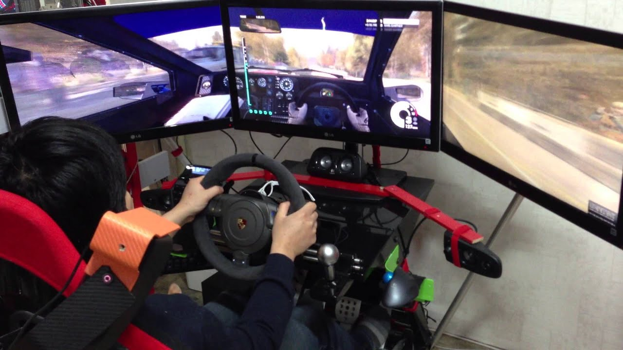 DIRT3 play with FANATEC Prosche 911 GT2 wheel - YouTube