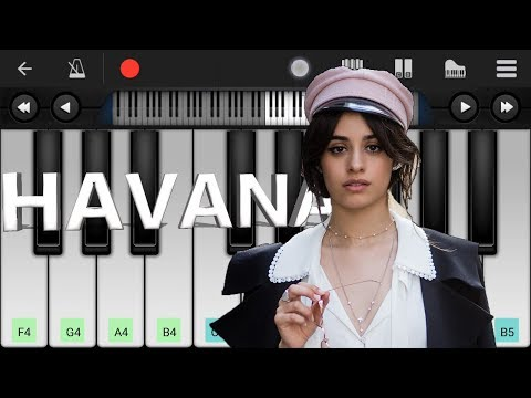 Camila Cabello - Havana Piano ft. Young Thug - Mobile Perfect Piano Cover and Tutorial