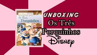 DVD Curtas Clássicos Disney: Os Três Porquinhos - UNBOXING