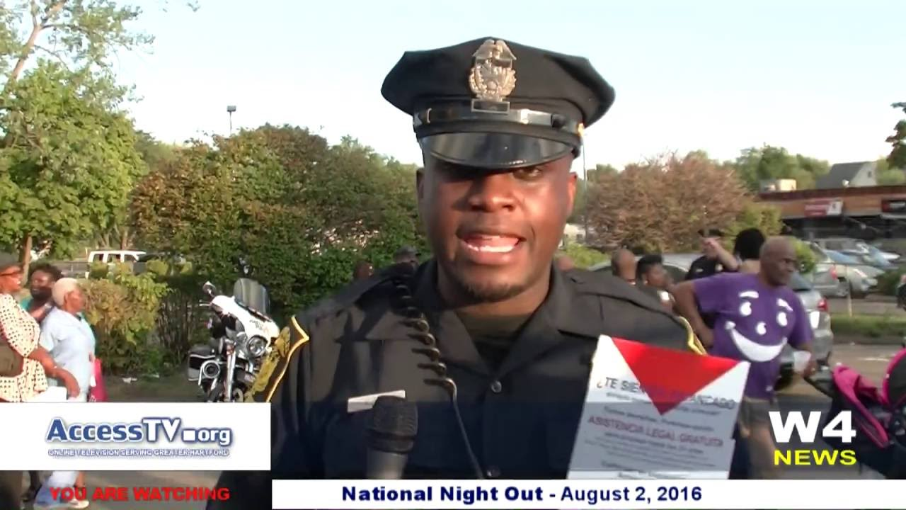 W4 News - National Night Out - Hartford CT - 8/2/2016