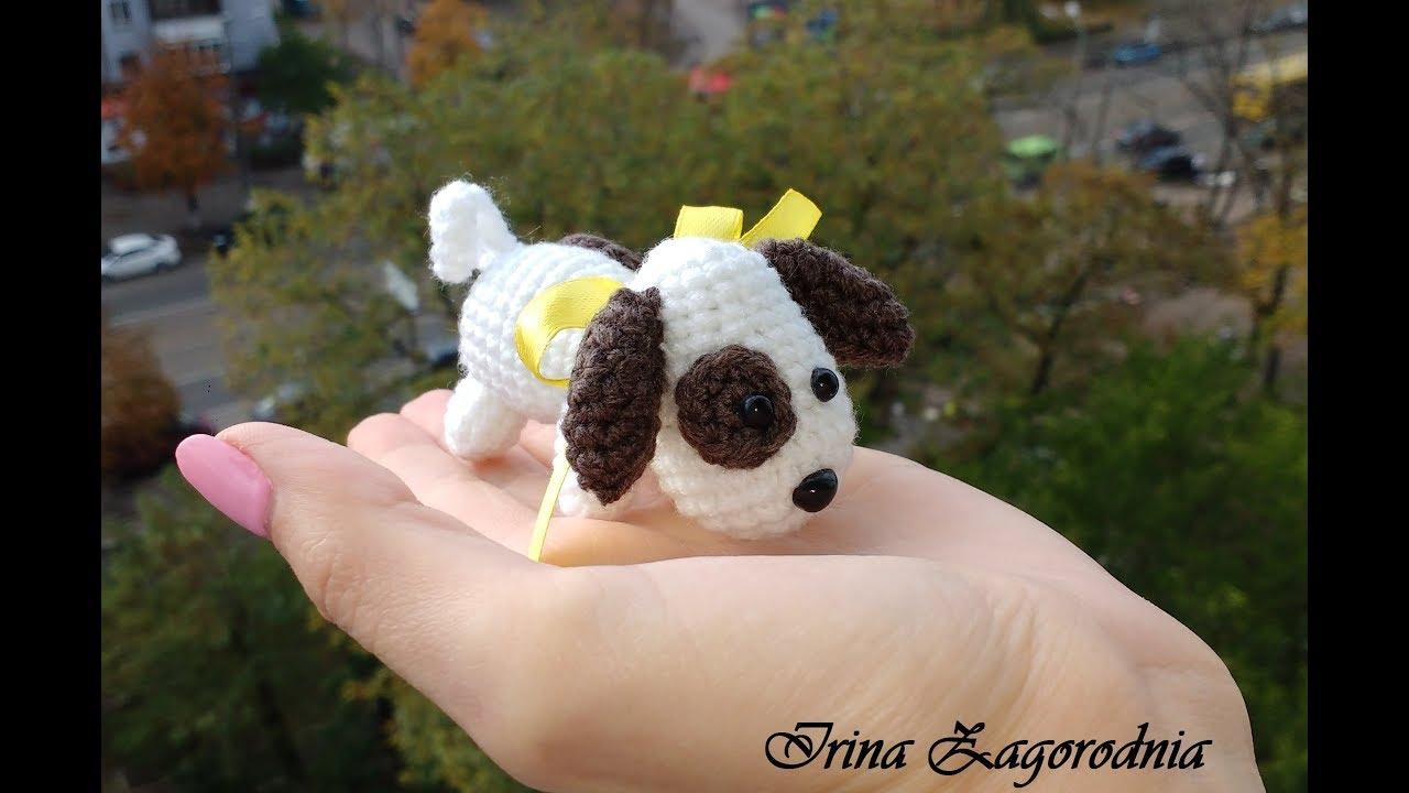 собака крючком рекссобачка амигуруми год собакивязаная собачка