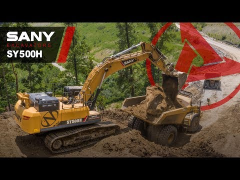 The Sany Sy500h At Work In A Coal Mine - A Coal Mining Solution