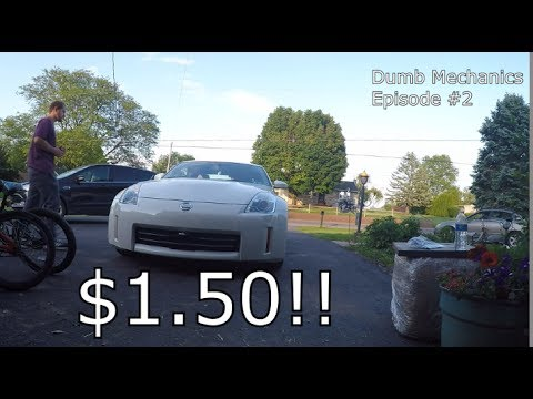 $1 50 Nissan 350z Exhaust Mod: Dumb Mechanics Episode 2