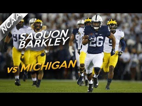 Saquon Barkley Highlights vs Michigan // 18 Touches, 161 Yards, 3 TDs // 10.21.17