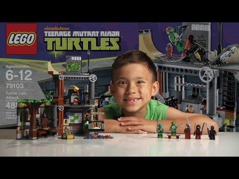 Turtle Lair Attack Lego Teenage Mutant Ninja Turtles Set 79103 Time-lapse & Review