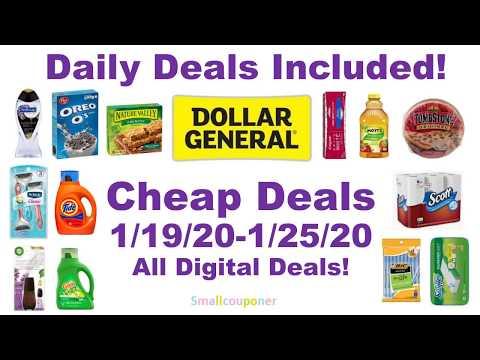 Dollar General Deals 1/19/20-1/25/20!