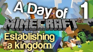 A Day of: Minecraft Episode 1 - Establishing a Kingdom [Gloward, Viper, Poly & Rippie]