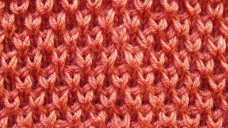 Рельефный узор с завитками Вязание спицами Видеоурок 107