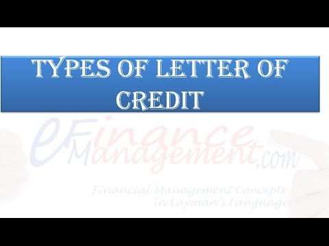 Types Of Letter Of Credit YouTube