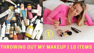THROWING OUT MY MAKEUP | 10 ITEMS