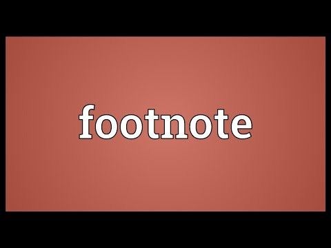 Footnote Meaning