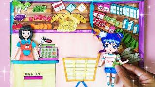 Búp bê Chibi đi siêu thị mua đồ - Paper Doll go to supermarket