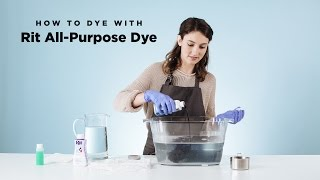 how to dye with rit all purpose liquid dye