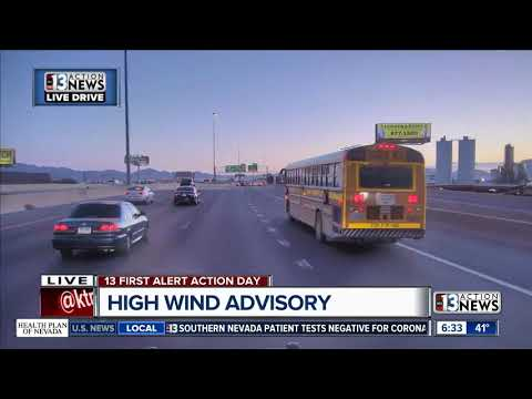 High winds threaten Las Vegas motorists
