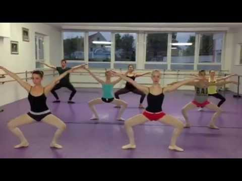 Modern dance class warm-up - YouTube