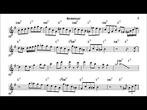 Charlie Parker Anthropology Solo Transcription