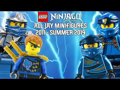 Ninjago Masters of Spinjitzu: All Jay Minifigures (2011 - Summer 2019)