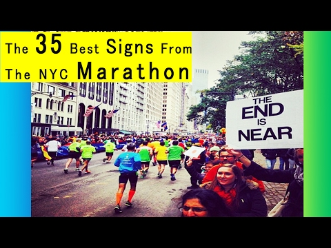 The 35 Best Signs From The NYC Marathon || Best Funny Signs!