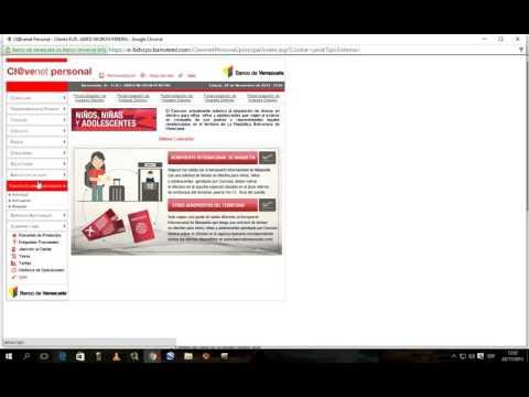 tutorial cómo pedir la tarjeta de coordenadas en el banco de venezuela en linea