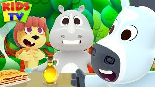 Dining At The Zoo | Cartoon Videos For Babies | Fun Song For Children - Kids TV
