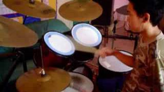 Blue and yellow - The used (drum cover) 2