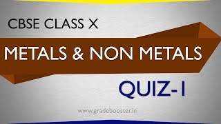 mcq #metals and non-metals :quiz : CBSE Syllabus : 10th Chemistry : NCERT X Science: online study
