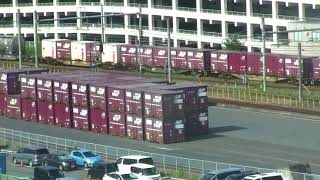 JR土浦駅に到着する貨物列車(EH500)