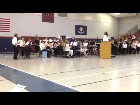 Calhoun Middle School Band playing Genesis
