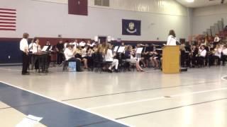 Calhoun Middle School Band playing Genesis