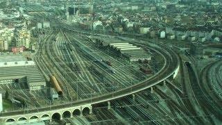 Trains Time Lapse - Zurich Main Station