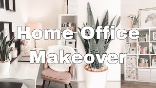 Home Office Makeover & Tour/Decluttering/Organizing & Decorating/ Autumn Clean with Me