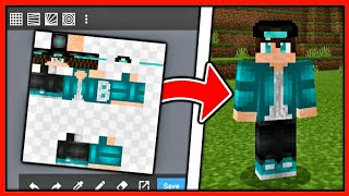 How To Make HD Skins For MCPE (1.16+) - IOS & Android - Minecraft Bedrock Edition