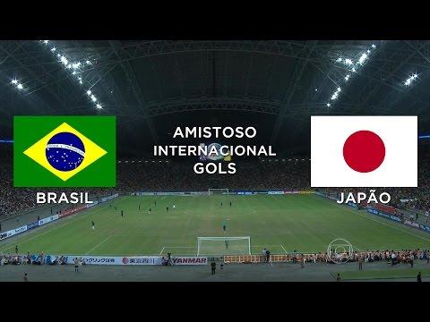 Gols - Brasil 4 x 0 Japão - Amistoso Internacional - 14/10/2014