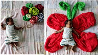 Baby creative photoshoot ideas at home||baby photoshoot ideas at home||DIY photoshoot