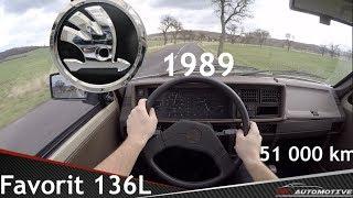 Skoda Favorit 136L (1989) POV Test Drive + Acceleration 0 - 130 km/h