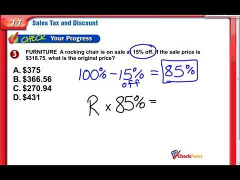 Sales Tax & Discount - Middle School Math
