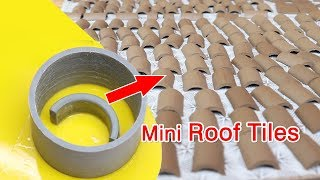 aWESOME Idea to make mini Roof Tiles to build mini Houses | Bricklaying