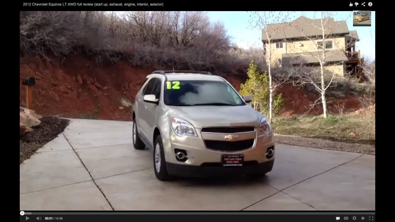 2012 Chevrolet Equinox LT V6 AWD Full Review (start Up, Exhaust, Engine,  Interior, Exterior)   YouTube
