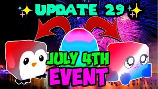 UPDATE 29!! NEW 4TH OF JULY LEGENDARY PETS!! (Bubble Gum Simulator Roblox)