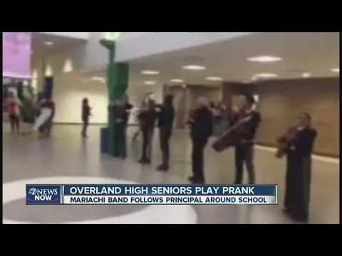 Overland High School seniors play prank on principal