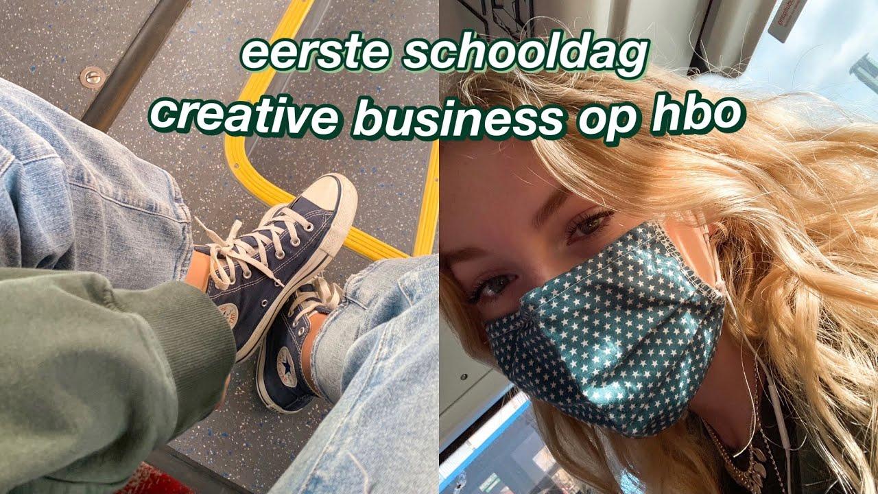 m'n eerste schooldag CREATIVE BUSINESS op hbo :)