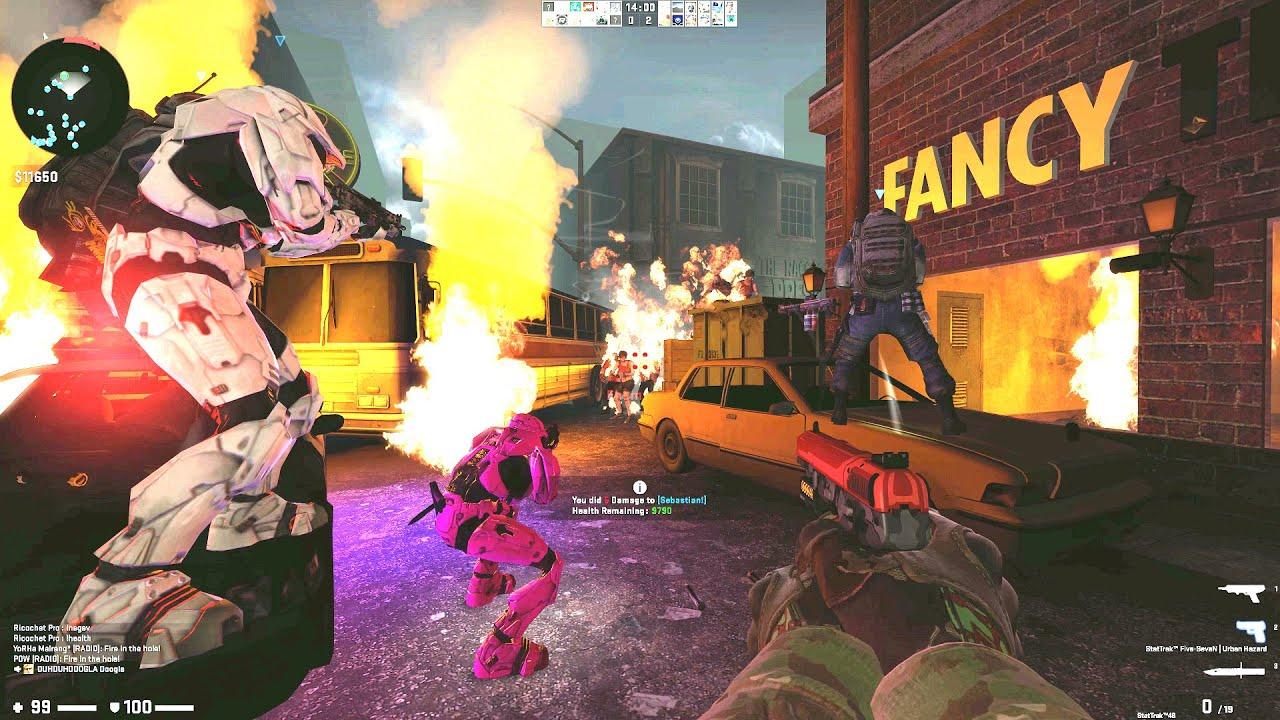 CSGO: Zombie Escape Mod - ze_Biohazard3_Nemesis_b5_2 (Normal Mode) on GFL