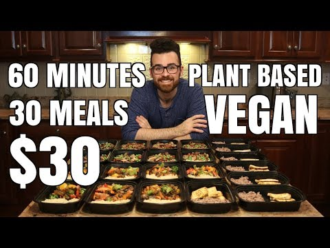30 Meals for $30 in 60 minutes || Plant Based Vegan Meal Prep || Steph & Adam