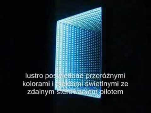 Infinity Mirror Lustro Przestrzenne Z Kolorowym Efektem