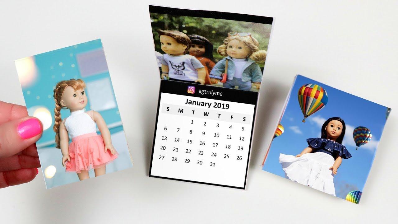 Diy Doll Room Calendar Crafts Youtube