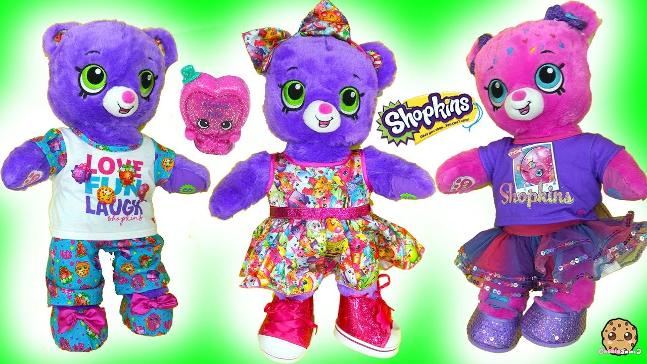 cbf02b6aff7 Shopkins Build-A-Bear Bears with Surprise Exclusive Shopkin - Cookie Swirl  C Video